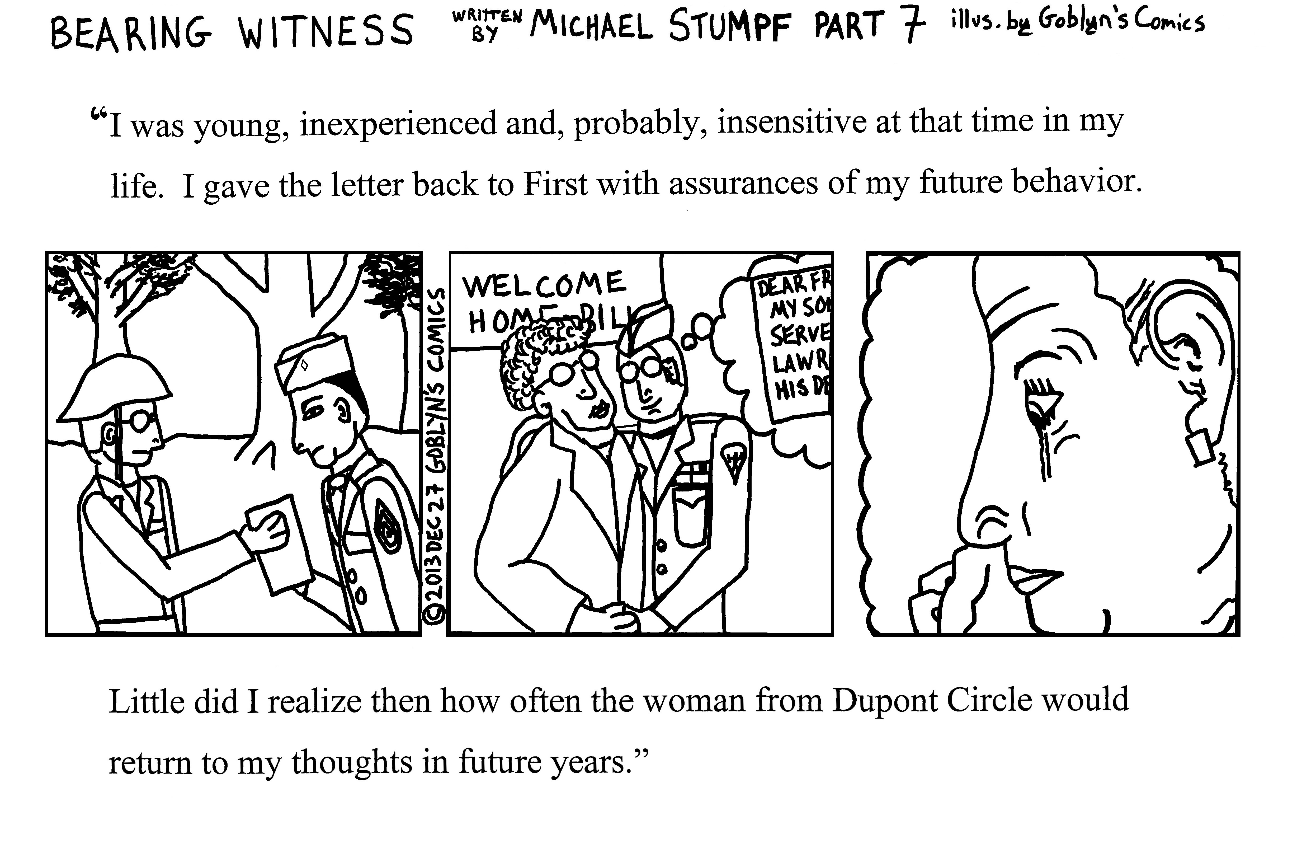 Bearing Witness by Michael Stumpf, Part 7, illustrated by Goblyn's Comics