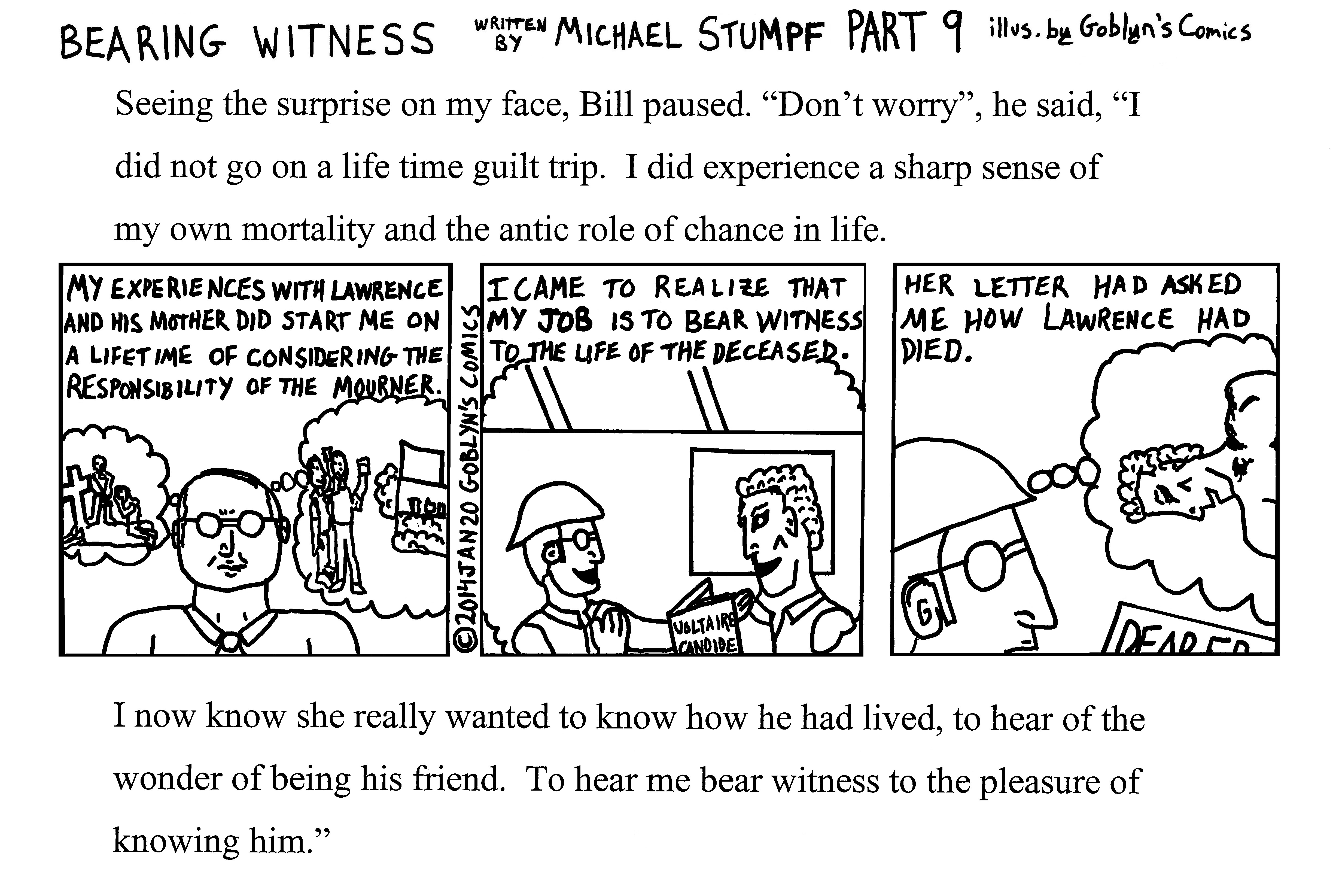 Bearing Witness Part 9 Written by Michael Stumpf, Illustrated by Goblyn's Comics