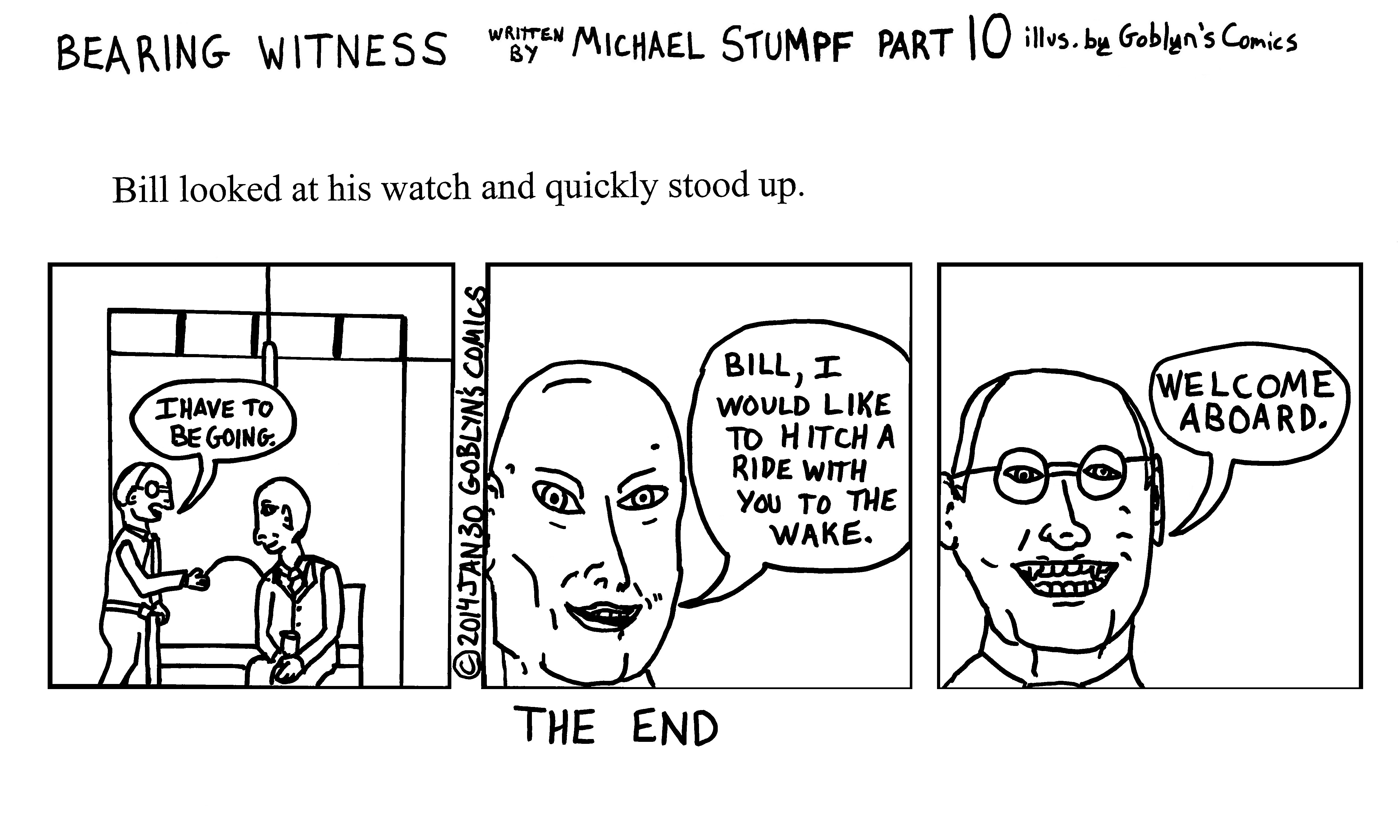 Bearing Witness by Michael Stumpf, illustrated by Goblyn's Comics Part 10