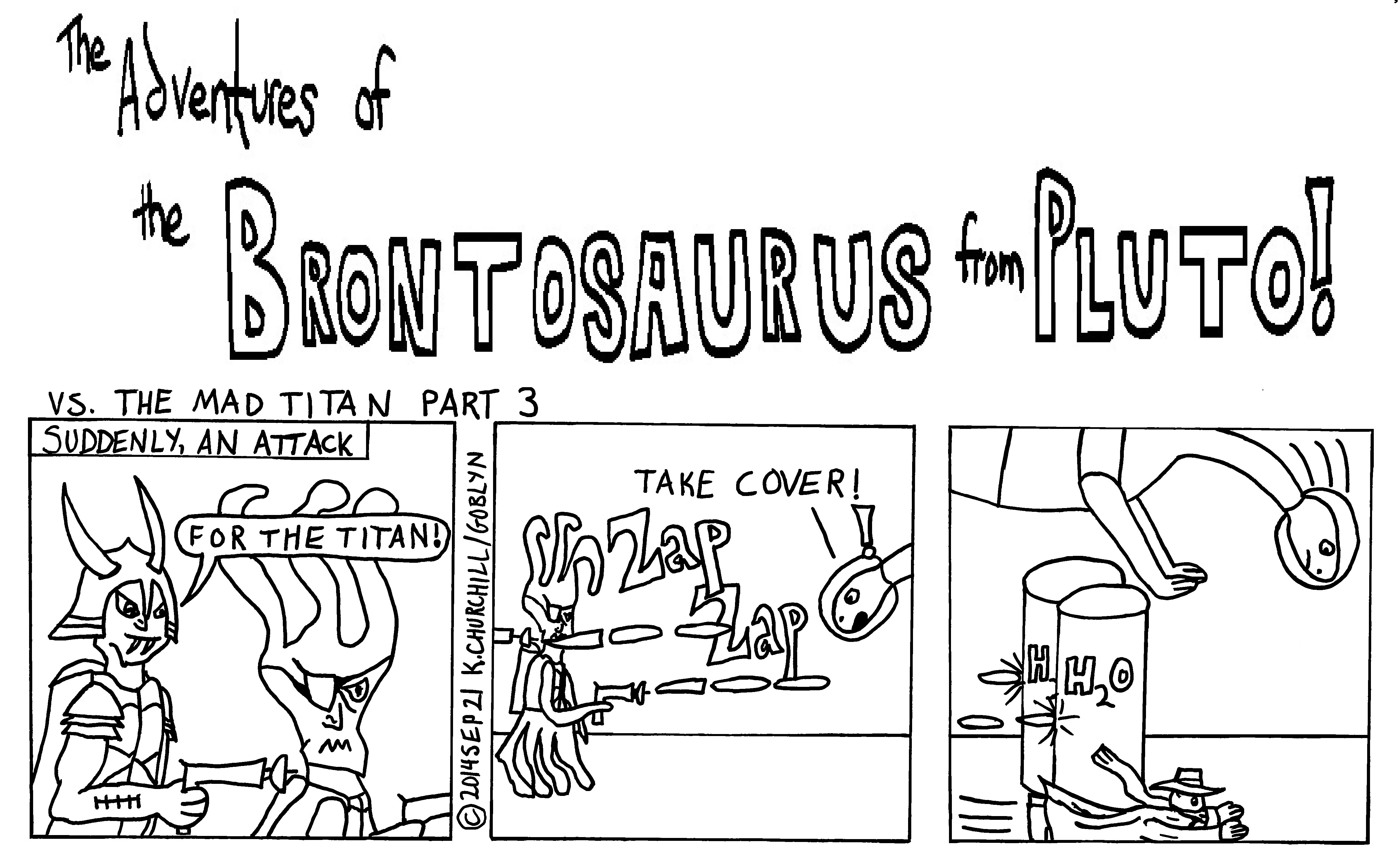 The Brontosaurus from Pluto is attacked by Space Pirates!